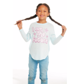 CHASER PRESCHOOL GIRLS I AM THE FUTURE L/S TEE - SIZE 2 ONLY