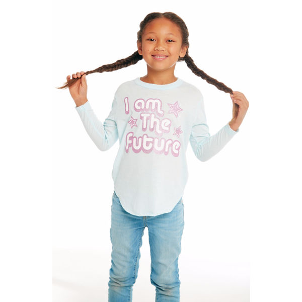 PRESCHOOL GIRLS I AM THE FUTURE L/S TEE