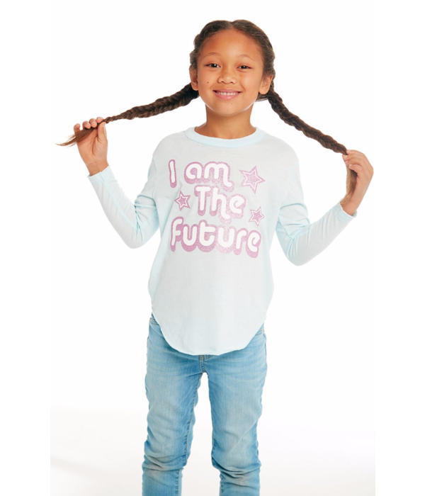CHASER PRESCHOOL GIRLS I AM THE FUTURE L/S TEE