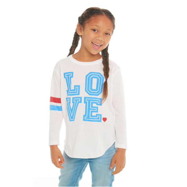PRESCHOOL GIRLS LOVE L/S TEE