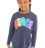 CHASER PRESCHOOL GIRLS PEACE L/S TEE - SIZE 4 ONLY