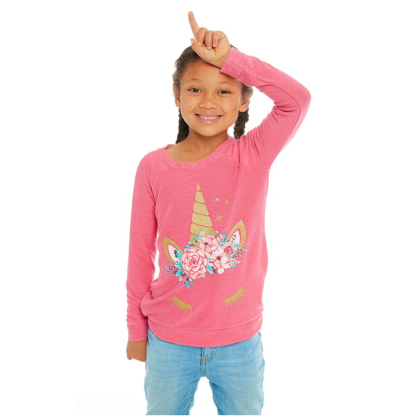 PRESCHOOL GIRLS UNICORN DREAM L/S KNIT PULLOVER