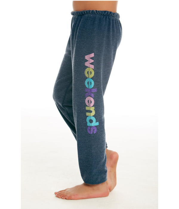 CHASER JUNIOR GIRLS WEEKENDS KNIT LOUNGE PANT