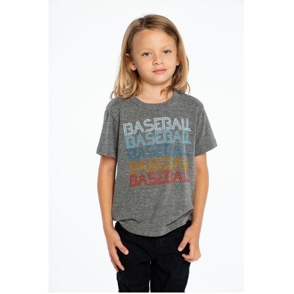 BOYS BASEBALL TRIBLEND CREW NECK S/S TEE