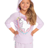 CHASER PRESCHOOL GIRLS UNICORN COZY KNIT PULLOVER - SIZE 2 ONLY