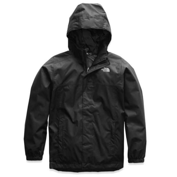 JUNIOR BOYS RESOLVE REFLECTIVE JACKET - TNF BLACK - SIZE SMALL (7/8) ONLY