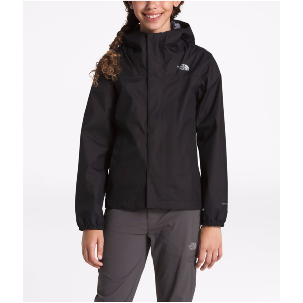 JUNIOR GIRLS RESOLVE REFLECTIVE JACKET - TNF BLACK