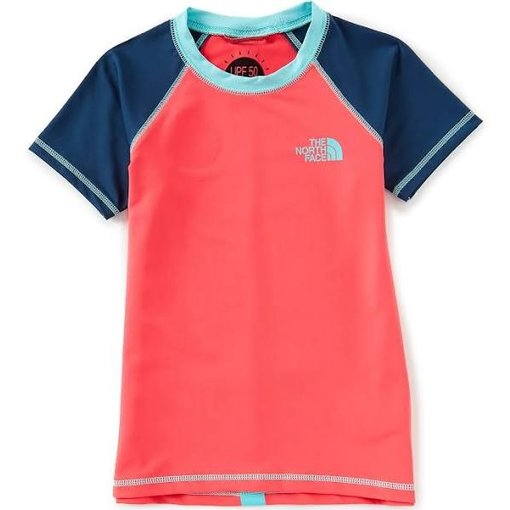 THE NORTH FACE JUNIOR GIRLS S/S AMPHIBIOUS TEE - ATOMIC PINK