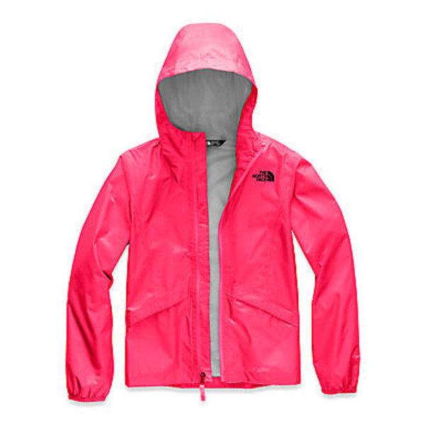 JUNIOR GIRLS ZIPLINE RAIN JACKET - ATOMIC PINK