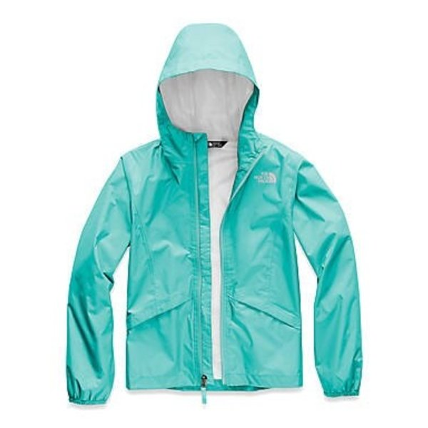 JUNIOR GIRLS ZIPLINE RAIN JACKET - MINT BLUE - SIZE X-LARGE (18/20) ONLY
