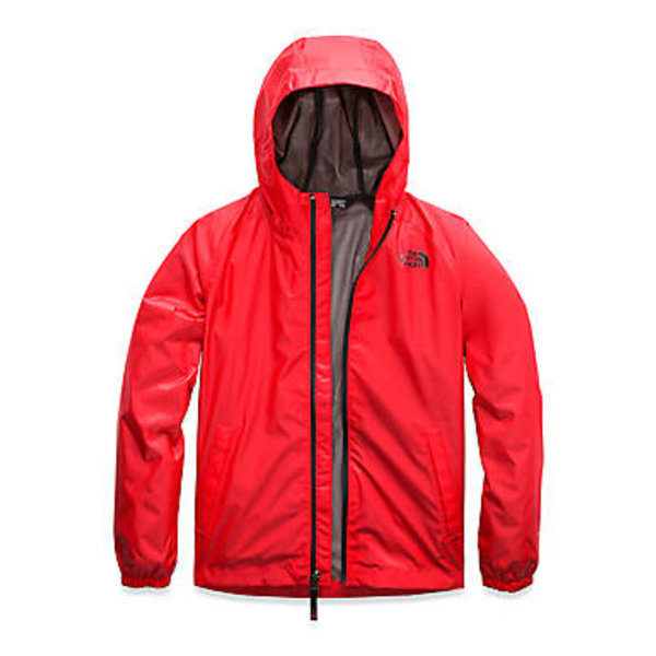 JUNIOR BOYS ZIPLINE RAIN JACKET - FIERY RED
