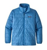 PATAGONIA JUNIOR BOYS NANO PUFF JACKET - PORT BLUE