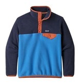 PATAGONIA JUNIOR BOYS SYNCHILLA SNAP-T PULLOVER - PORT BLUE