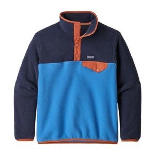 JUNIOR BOYS SYNCHILLA SNAP-T PULLOVER - PORT BLUE - SIZE XLARGE (14) ONLY