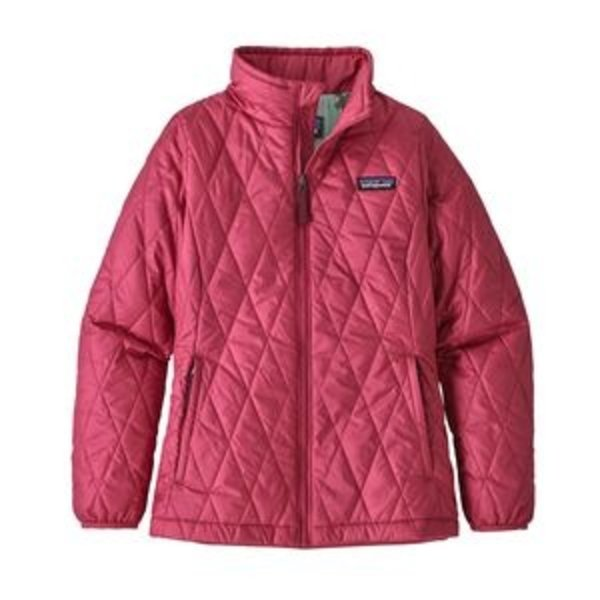 JUNIOR GIRLS NANO PUFF JACKET - REEF PINK