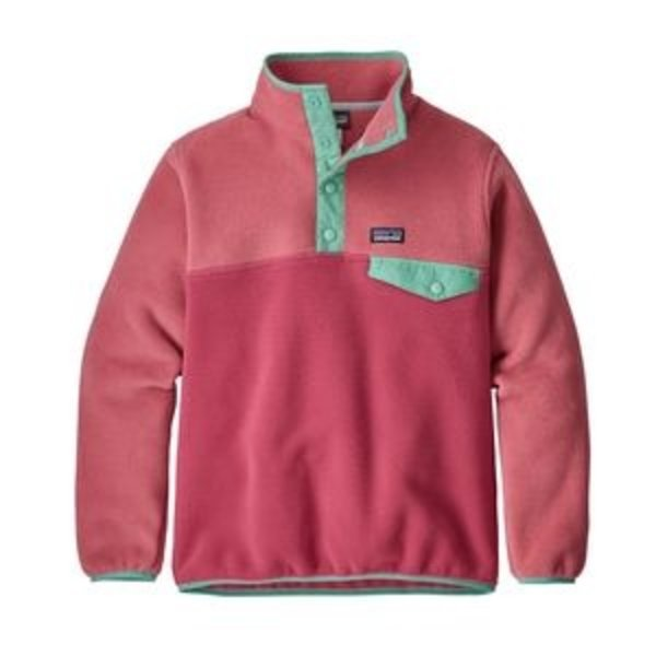 JUNIOR GIRLS SYNCHILLA SNAP-T PULLOVER - REEF PINK