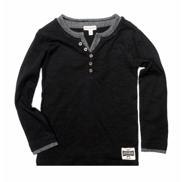 CAMDEN LONG SLEEVE - BLACK - SIZE 4T ONLY
