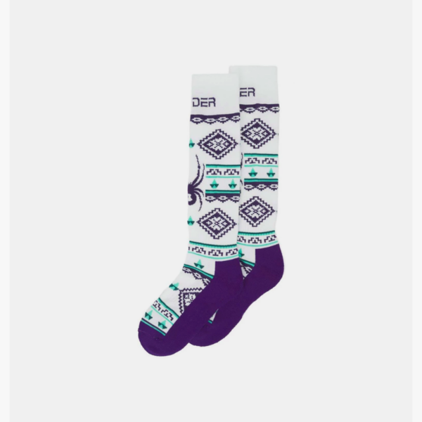 GIRLS PEAK SKI SOCKS - SWEATER WHITE