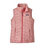 PATAGONIA JUNIOR GIRLS DOWN VEST - ROSEBUD PINK - SIZE LARGE (12) ONLY