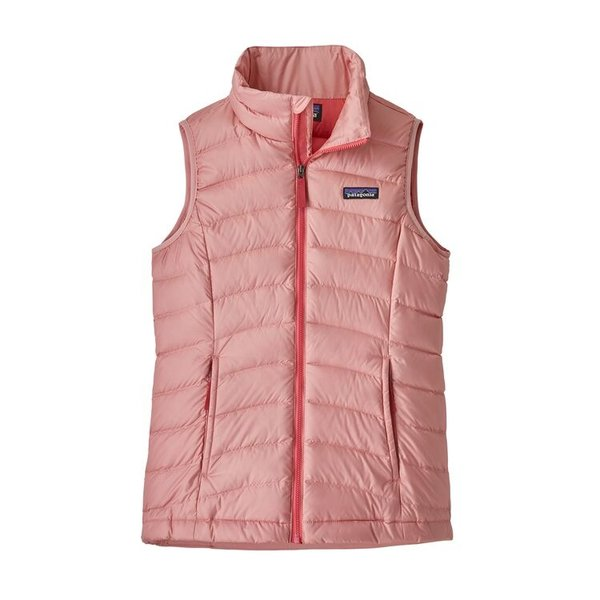 JUNIOR GIRLS DOWN VEST - ROSEBUD PINK