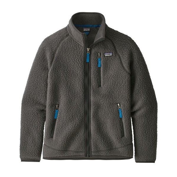 JUNIOR BOYS RETRO PILE JACKET - FORGE GREY