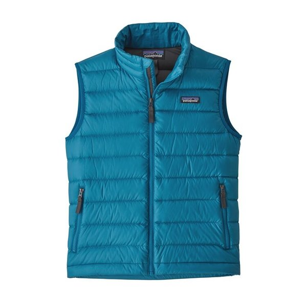 JUNIOR BOYS DOWN VEST - BALKAN BLUE/GREY