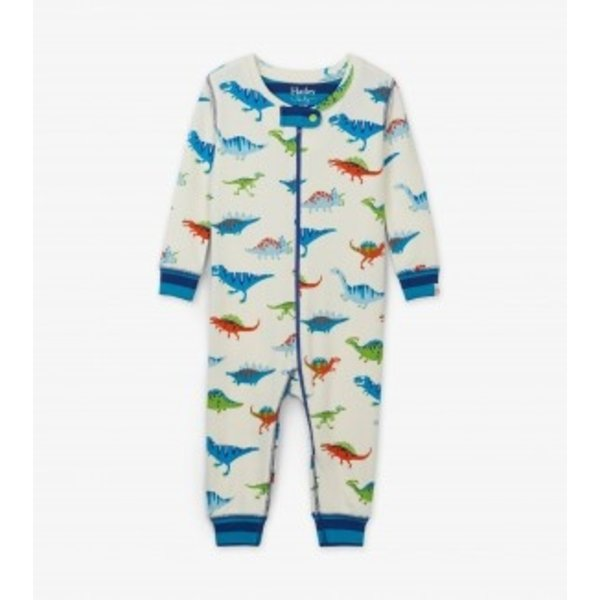 DINO HERD INFANT COVERALLS