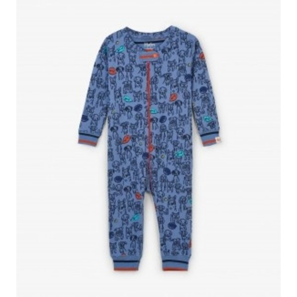 PUPPY PALS COVERALLS - SIZE 6-9 MONTHS ONLY