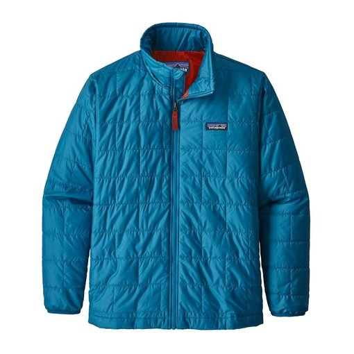 PATAGONIA JUNIOR BOYS NANO PUFF JACKET - BALKAN BLUE - SIZE LARGE (12) ONLY