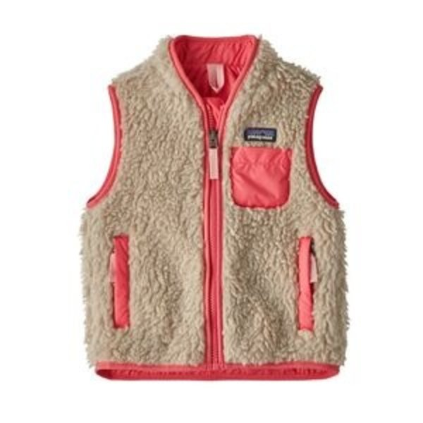 TODDLER RETRO-X VEST - NATURAL/RANGE PINK