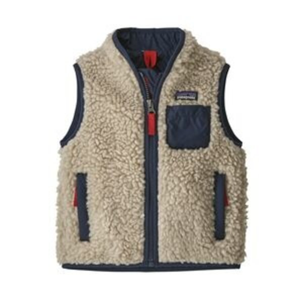 INFANT RETRO-X VEST - NATURAL/NEW NAVY