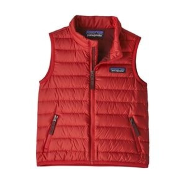 INFANT DOWN SWEATER VEST - FIRE RED - SIZE 3-6M ONLY