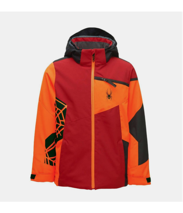 SPYDER JUNIOR BOYS CHALLENGER JACKET - VOLCANO - SIZE 14 ONLY