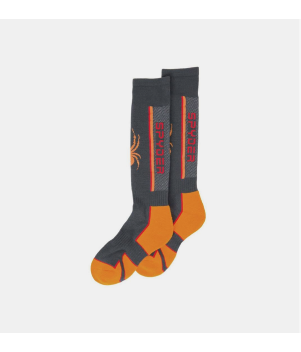 SPYDER BOYS SWEEP SKI SOCKS - EBONY