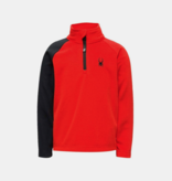 SPYDER MINI BOYS SECOND LAYER SKI SPEED FLEECE T-NECK - VOLCANO
