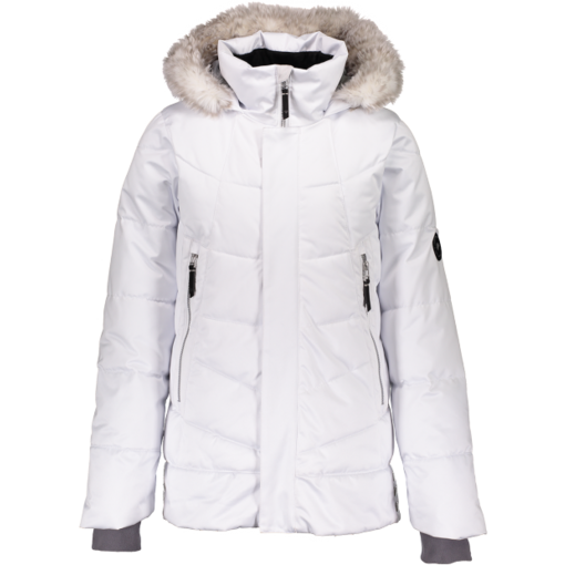 OBERMEYER JUNIOR GIRLS MEGHAN JACKET - WHITE - SIZE MEDIUM 10/12 ONLY