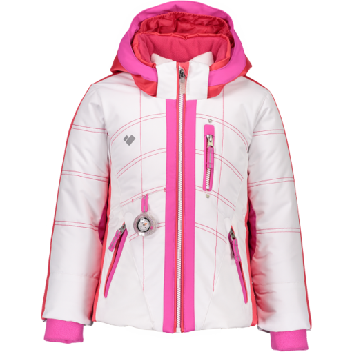 OBERMEYER PRESCHOOL GIRLS HEY SUNSHINE JACKET - WHITE