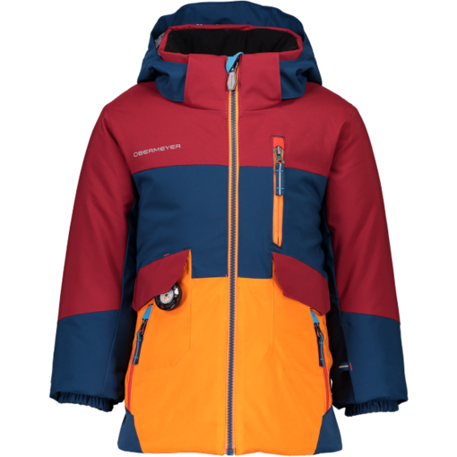 OBERMEYER PRESCHOOL BOYS NEBULA JACKET - DRAGON RED