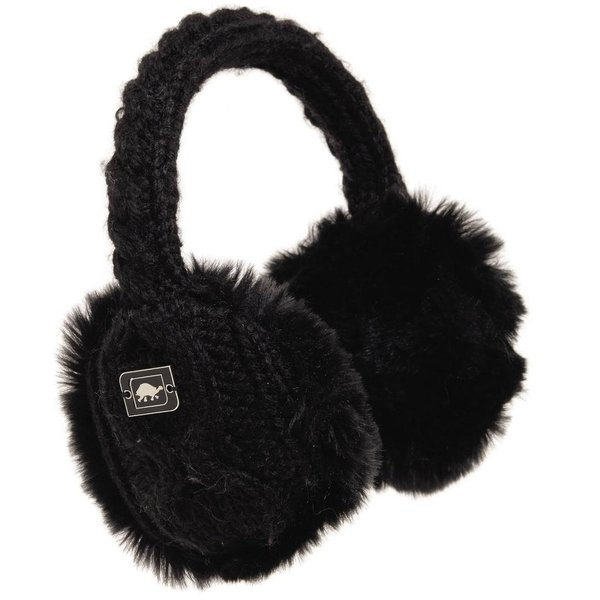 ADULT EAR MUFFIN EARMUFFS - BLACK