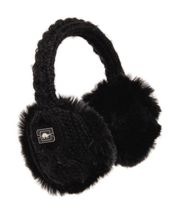TURTLE FUR ADULT EAR MUFFIN EARMUFFS - BLACK