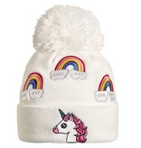 TURTLE FUR KIDS UNICORN HAT - WHITE