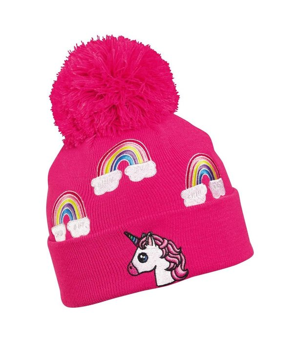 TURTLE FUR KIDS UNICORN HAT - PINK