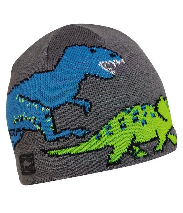 TURTLE FUR KIDS JURASSIC HAT AGES 3-6 - GRAY