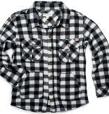 APPAMAN BOYS SNOW FLEECE SHIRT - BLACK/WHITE CHECK