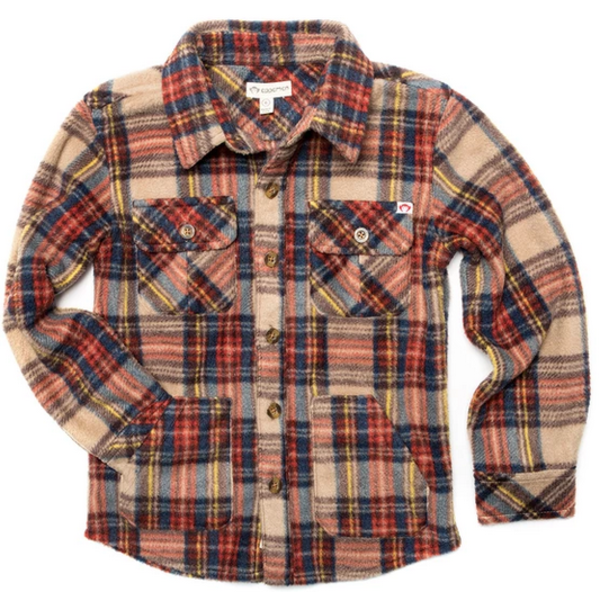 BOYS SNOW FLEECE SHIRT - WINDHAM PLAID