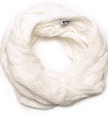 APPAMAN CABLE KNIT INFINITY SCARF - WHITE