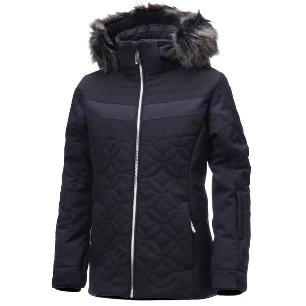 JUNIOR GIRLS SAMI JACKET - BLACK/SILVER - SIZE 16 ONLY