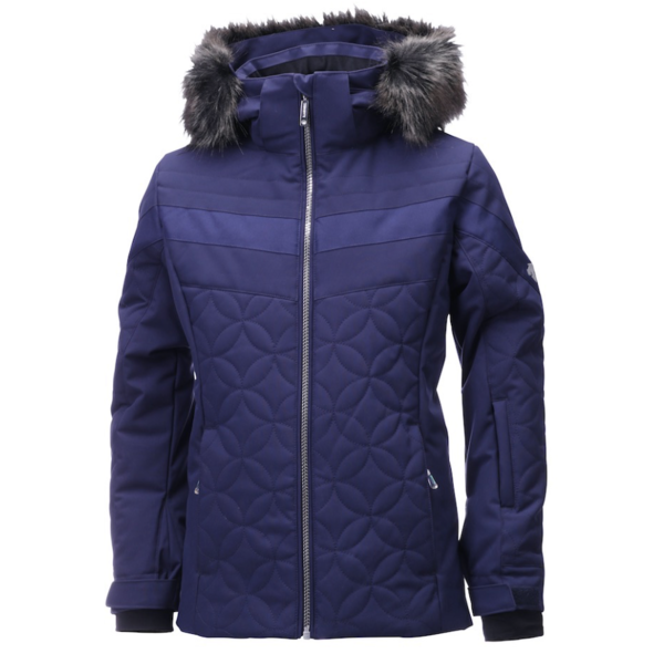 JUNIOR GIRLS SAMI JACKET - NAVY/SILVER