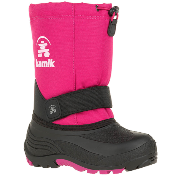 CHILDRENS ROCKET SNOWBOOT - BRIGHT ROSE