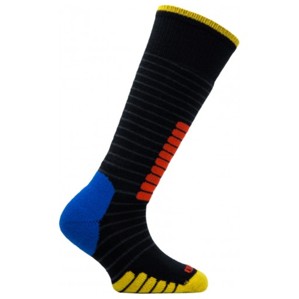 SKI SUPREME JR SOCKS - BLACK/YELLOW